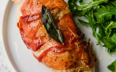 Baked Prosciutto Wrapped Chicken Saltimbocca (Paleo, Whole30, Keto, AIP)