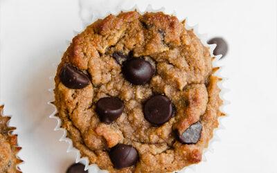 Healthy Zucchini Chocolate Chip Muffins