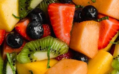 Honey Lime Mint Fruit Salad
