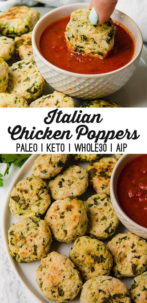 Italian Chicken Poppers