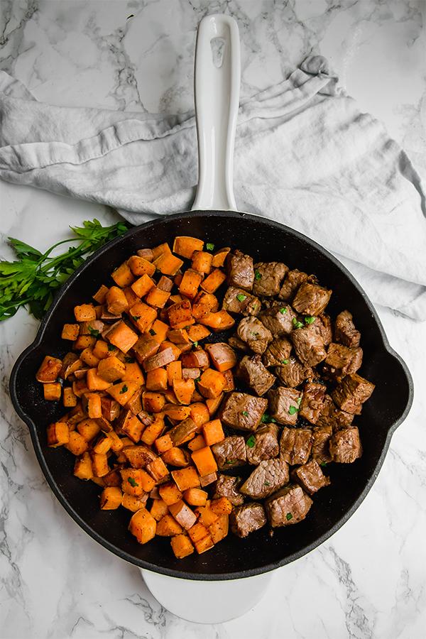 One Pan Steak and Sweet Potato
