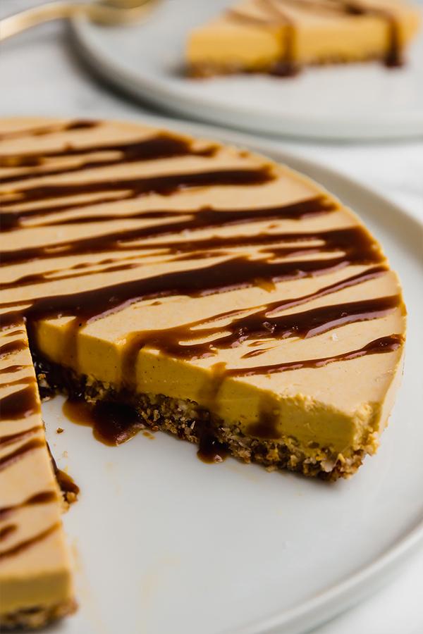 Salted Caramel Pumpkin Cheesecake