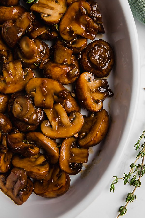 Garlic Balsamic Mushrooms