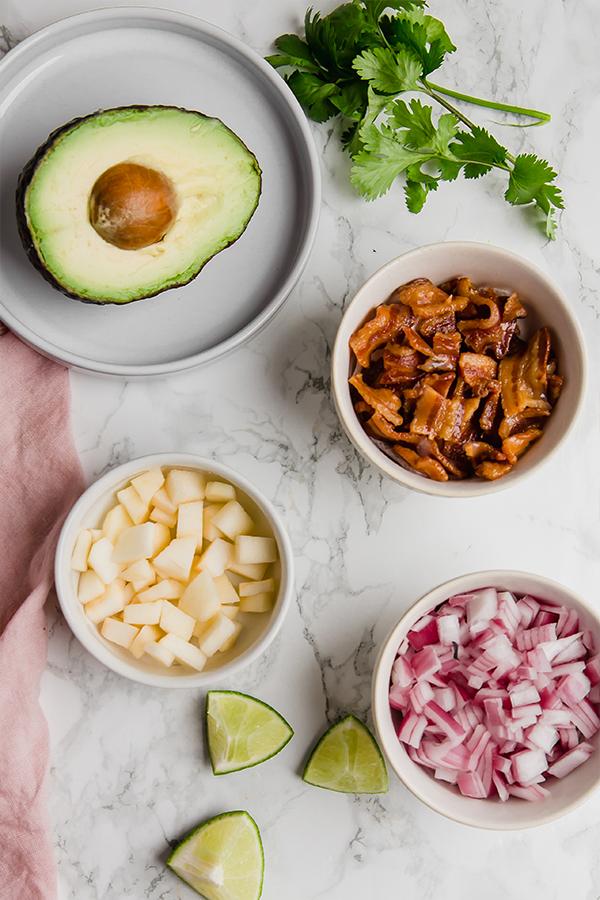 Apple Bacon Guacamole Ingredients