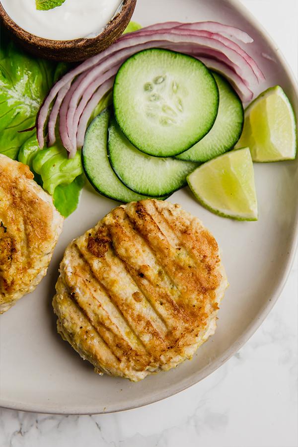 tandoori chicken burger ingredients