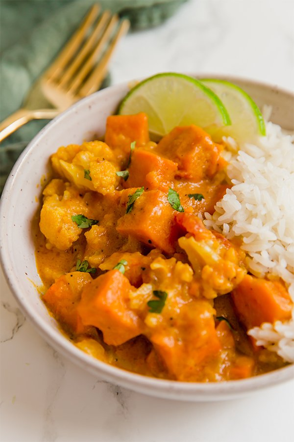 Sweet Potato Curry with Rice