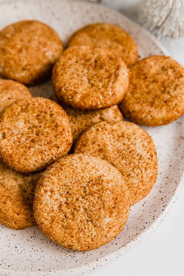 paleo snickerdoodle cookies on plate