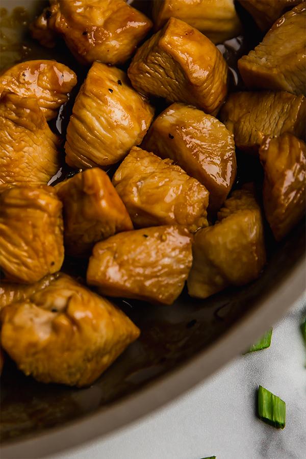 thai chicken in skillet