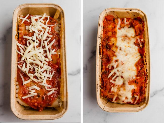 lasagna roll ups in loaf pan