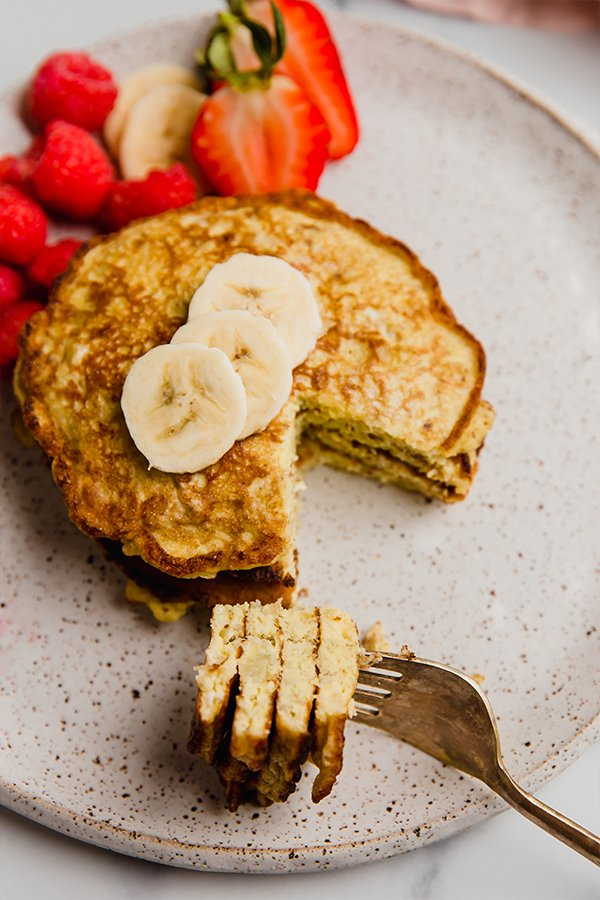 pancake slice of a fork