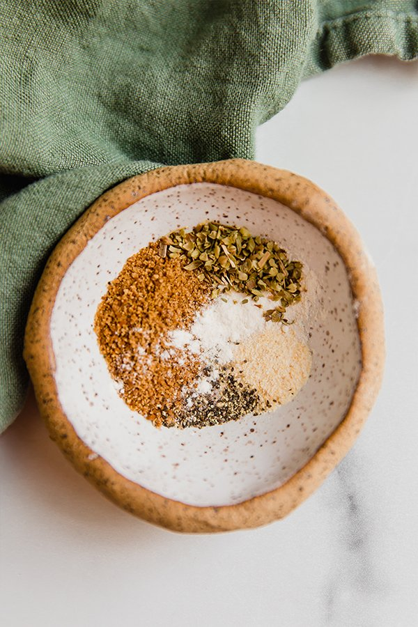 Spice blend in a bowl