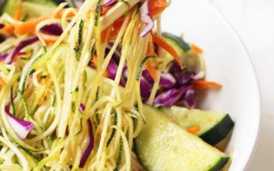Asian Veggie Noodle Bowl (Whole 30, Paleo, AIP)