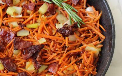 Carrot Apple & Bacon Breakfast Hash (Whole 30, Paleo, AIP)