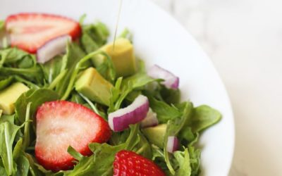 Spring Strawberry Arugula Salad with Lemon Vinaigrette (Paleo, AIP, Whole 30)